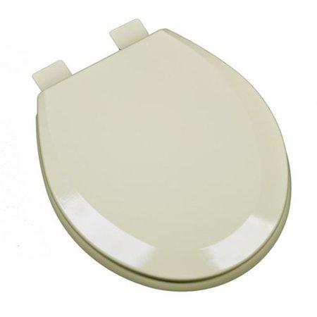 Plumbing Technologies 1F1R5 01 Premium Molded Round Wood Toilet Seat B