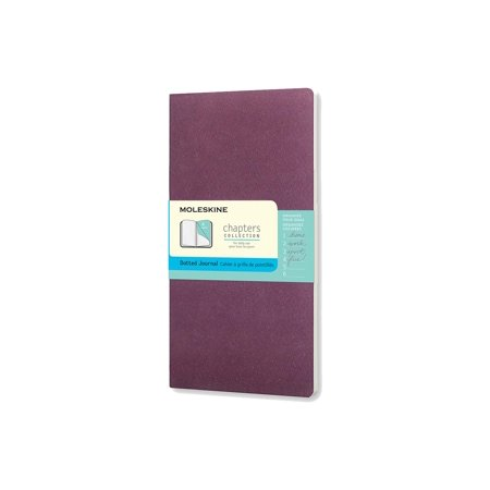 Moleskine Chapters Journal, Slim Medium, Dotted, Plum Purple, Soft Cover (3.75 X 7)
