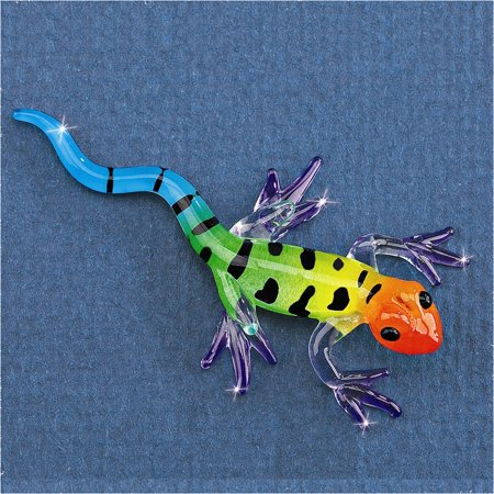 Gecko Glass Figurine