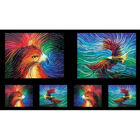 Quilting Treasures Artworks IX Eagle & Wave Ombre Panel - Halloween Panels For Quilting