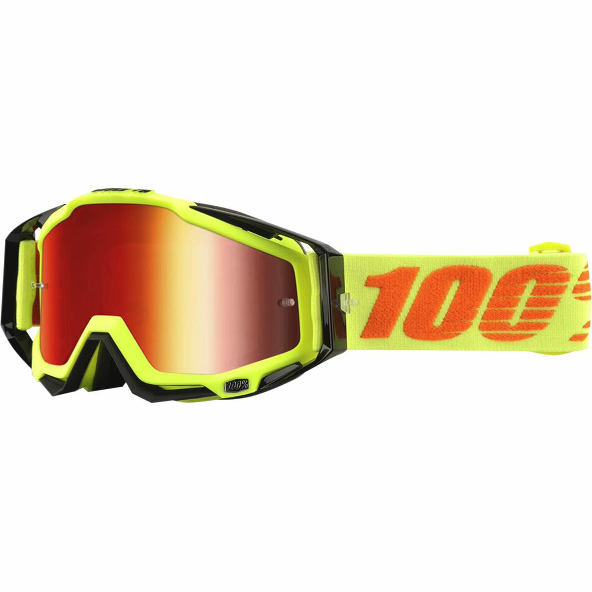 100% Racecraft Goggles Attack Yellow / Clear Lens (Yellow)