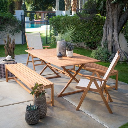 Belham Living Boca Vista Outdoor Wood Dining Set ()