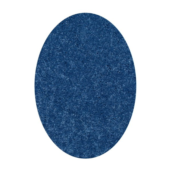 Queen Solid Color Oval Shape Royal 2 X8