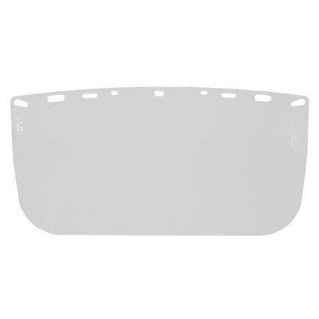BULLARD 840ME Hard Hat Clear Visor, Flat, - Hard Hat Visor