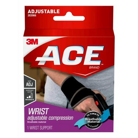 34ddf597cd ACE Brand Wrist Support, Adjustable, Black, 1/Pack - Walmart.com
