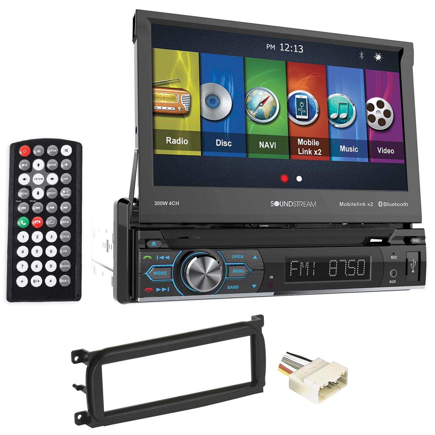 1999-2004 Jeep Grand Cherokee Navigation DVD Player w Bluetooth, MobileLink8.2 by Soundstream