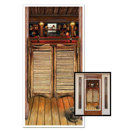Club Pack of 12 Western Themed Saloon Door Cover Party Decorations 5' - Western Themed Parties
