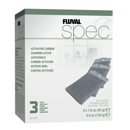 Fluval Carbon Bags - (3 Pack) Fluval Spec/Flex/EVO Carbon, 3 pack
