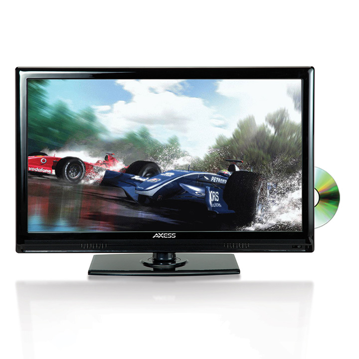 AXESS 19 In LED HDTV Features VGA HDMI SD USB Inputs Built-In DVD