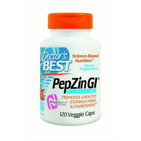 Doctors Best Pepzin Gi Veggie Caps  120 Ct