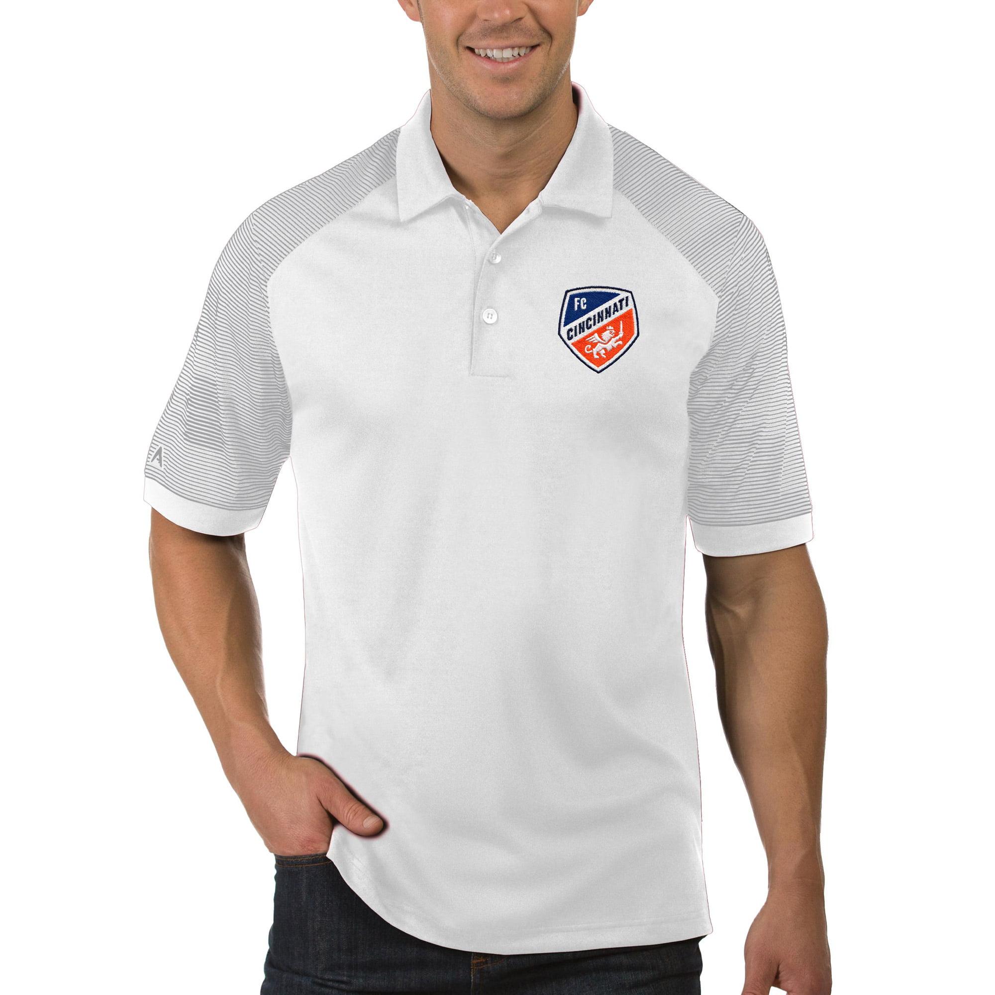 FC Cincinnati Antigua Engage Polo - White