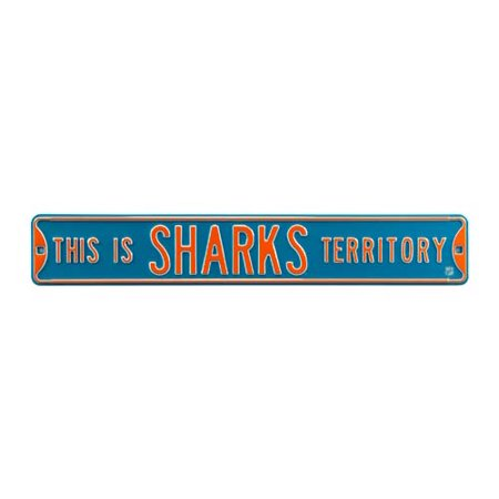 This Is Sharks Territory Street Sign
