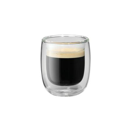 57e61e29fb6 ZWILLING Sorrento 2-pc Double-Wall Glass Espresso Cup Set - Walmart.com