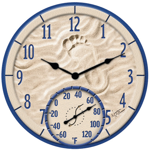 Springfield 14u0027u0027 By The Sea Patio Clock With Thermometer