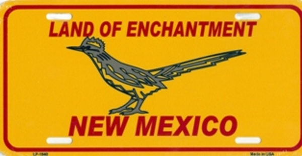 New Mexico Land of Enchantment with Roadrunner License Plate ...