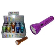 Diamond Visions Max Force 08-0817 Crazy Colors Super Bright Flashlight in Assorted Colors (1 Flashlight)