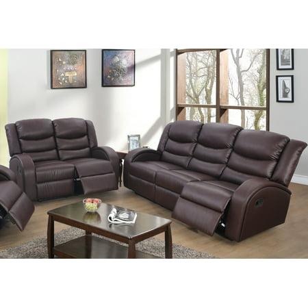 Lorenze Brown Recliner 2-Pieces Sofa Set ()