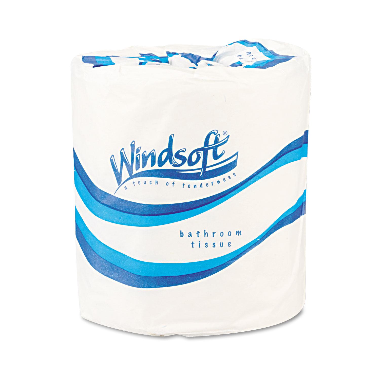 Single Roll One-Ply Premium Bath Tissue, 1000 Sheets/roll, 96 Rolls/carton