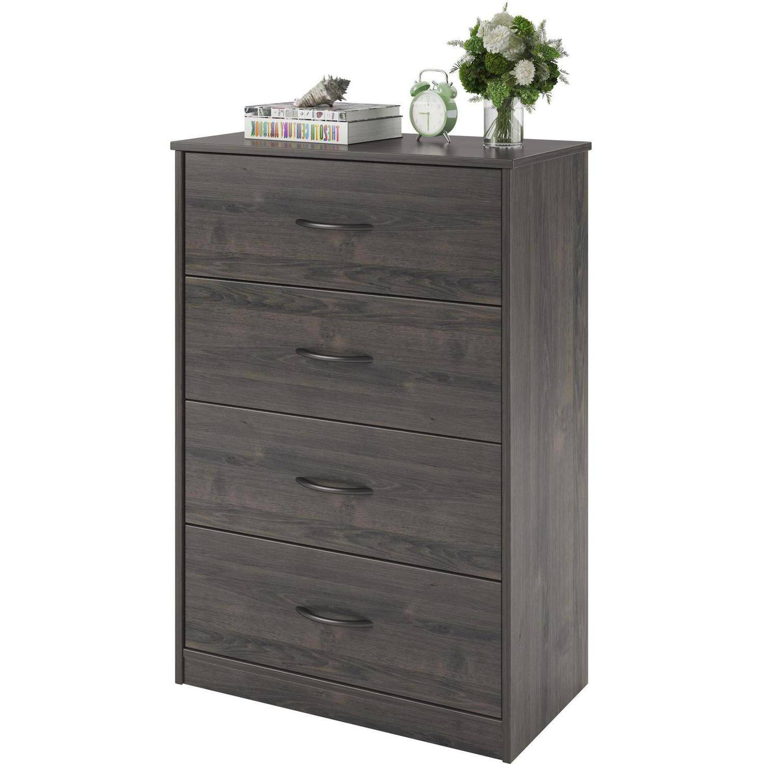 Bedroom Storage Dresser Chest 4 Drawer Modern Wood Furniture Gray Rodeo Oak Ebay
