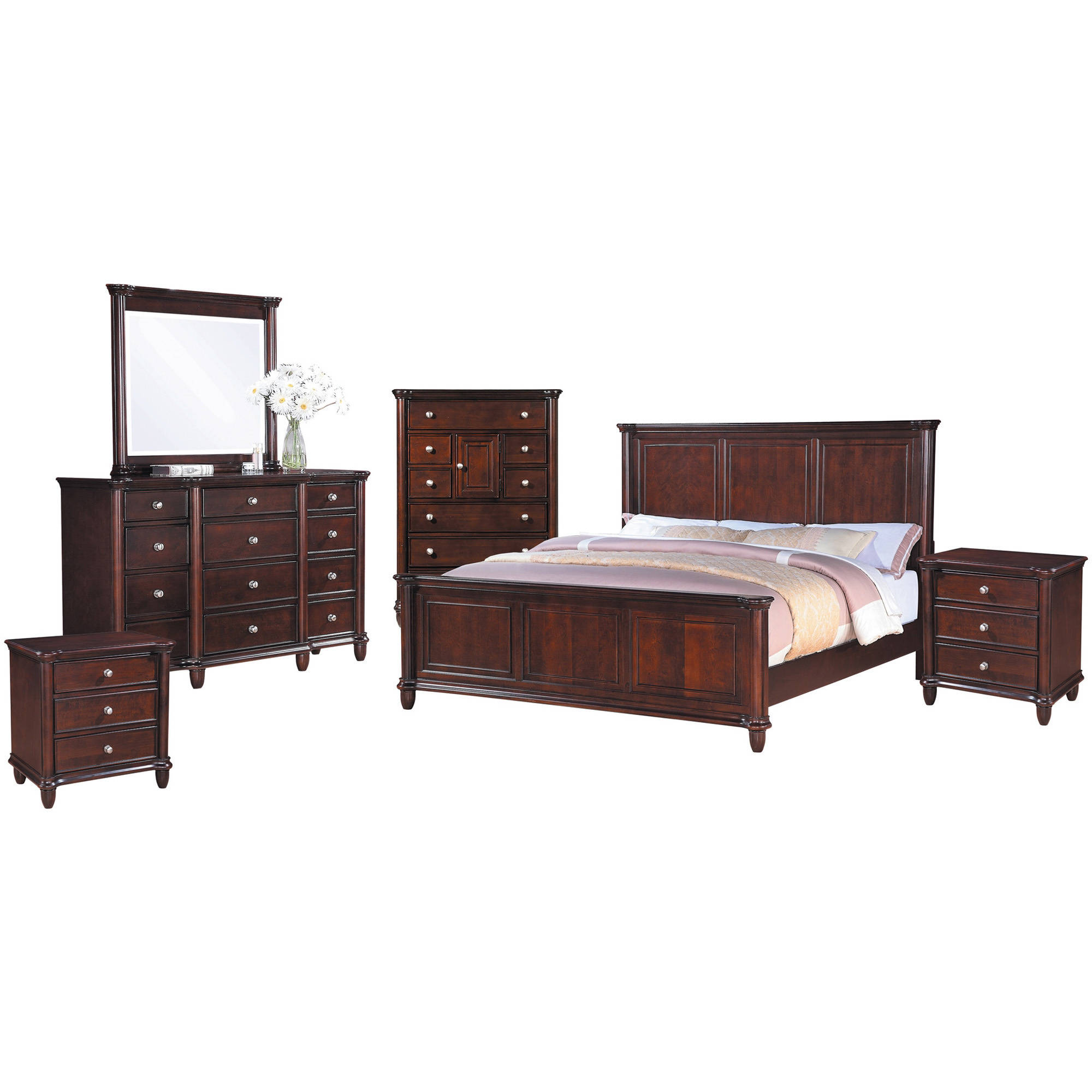 Picket House Furnishings Gavin Panel Bedroom Set, Multiple Sizes and Configurations, King, 6 Piece Set