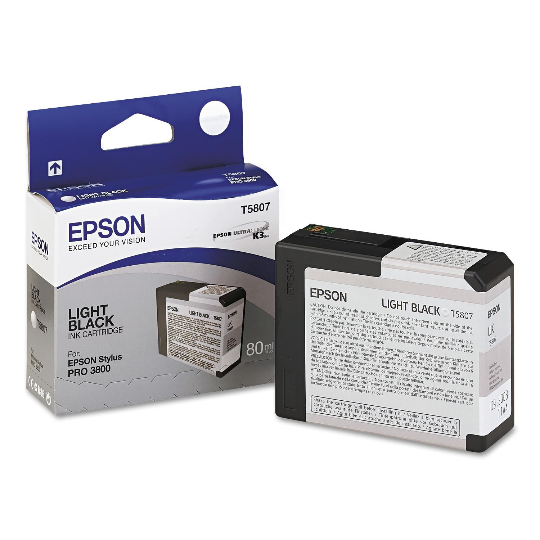 Epson T580700 UltraChrome K3 Ink, Light Black by Epson