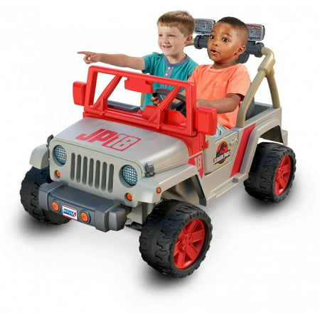 Power Wheels Jurassic Park Jeep Wrangler 12-V Battery-Powered Ride-On](Power Wheels Ages 8 Up)
