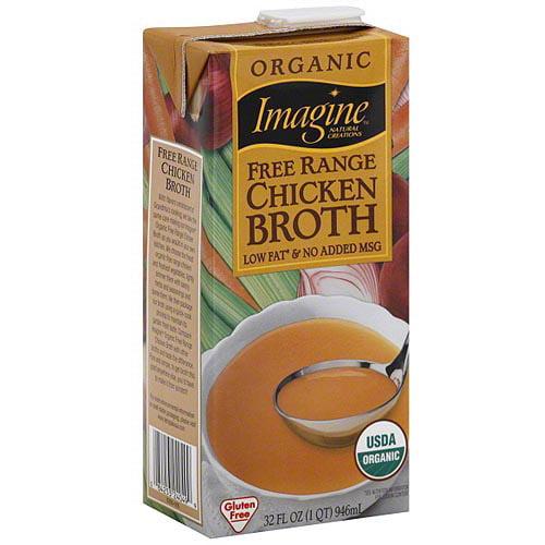 Imagine Foods Organic Free Range Chicken Broth, 32 oz (Pack of 12)
