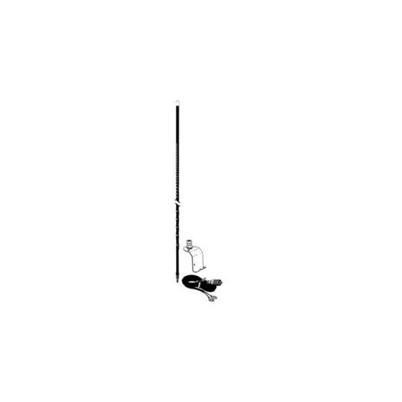 Accessories Unlimited AU320 B Three Foot Under Hood CB Antenna Kit Black