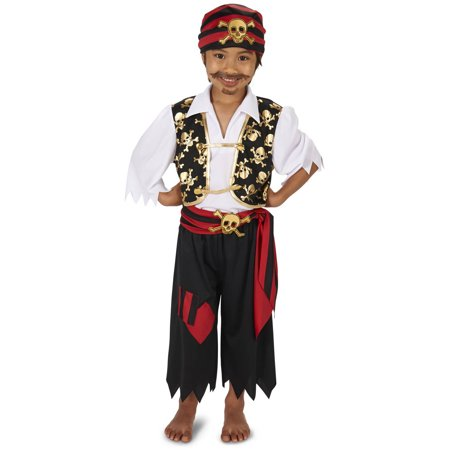 Skull Print Pirate Child Halloween Costume - Pirate Cosplay Costume