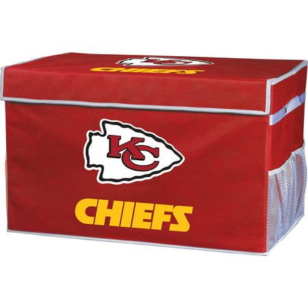 Kansas City Costume Stores (Franklin Sports NFL Kansas City Chiefs Collapsible Storage Footlocker Bins -)