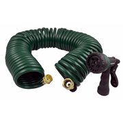 Instapark GHN-06 Heavy-duty EVA Recoil Garden Hose with 7-Pattern Spray Nozzle, Green, 3/4 Inch by 50-Foot