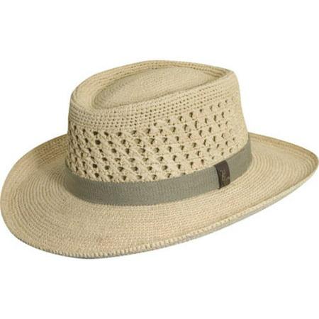 a3772b8a32989a Scala - Men's Scala MR113OS Crocheted Outback Straw Hat - Walmart.com