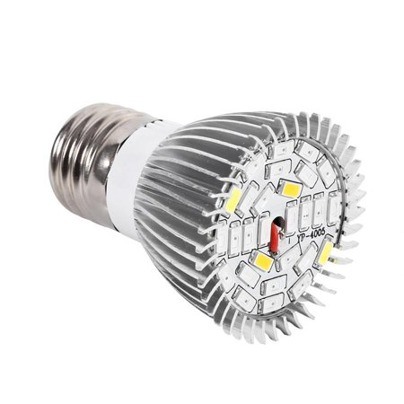 Qiilu Usine Led élèvent l'ampoule, Usine Led élèvent la lumière, Spectre complet E27 Led élèvent l'ampoule de la lampe de croissance pour la fleur de plante hydroponique bricolage - image 8 de 8