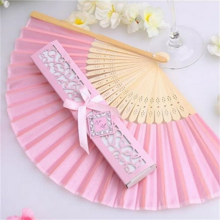 1 PCS Beige Bamboo Folding Fan Handheld Fans Paper Folded Fan for Wedding Party and Home Decoration - image 3 de 6