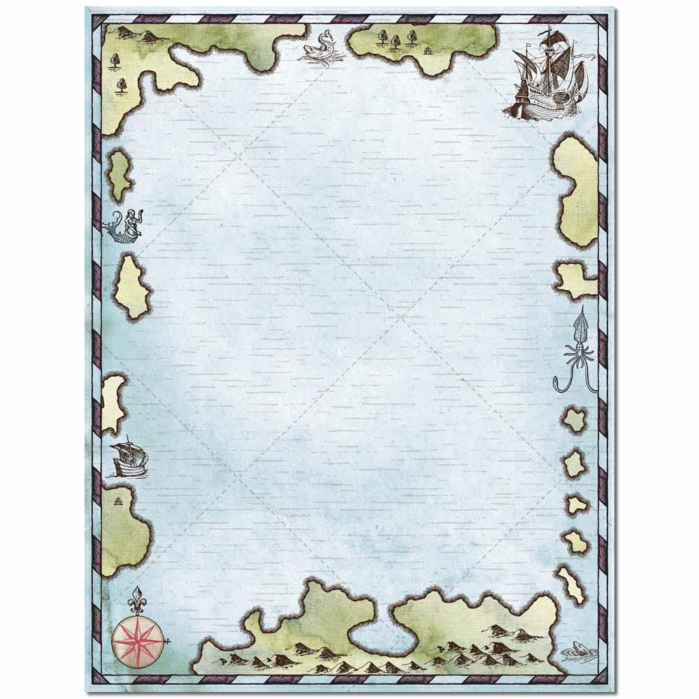 Treasure Map Letterhead Laser & Inkjet Printer Paper