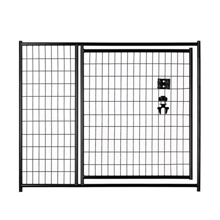Lucky Dog CL 28541 4 x 5 ft. Black Welded Wire Gate Black Diamond Oval Wire Gate