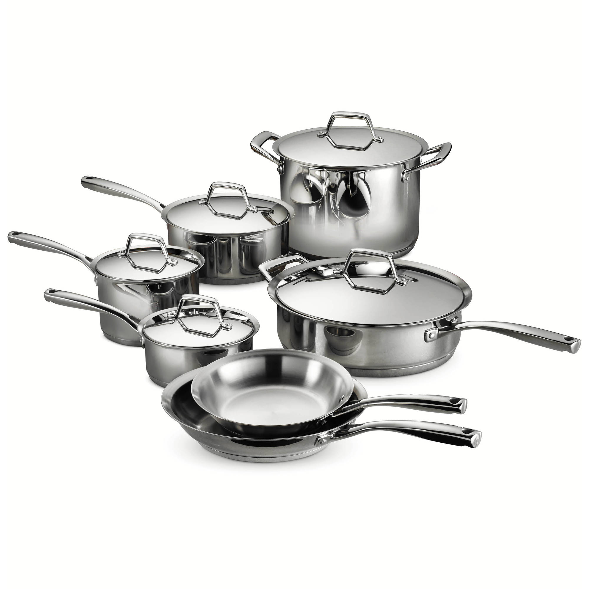 Tramontina Gourmet Prima 12-Piece Stainless Steel Cookware Set