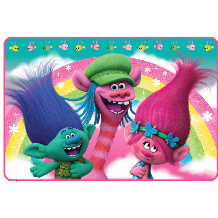 Dreamworks Trolls Rainbow Days Foam Bath Rug Walmart Com