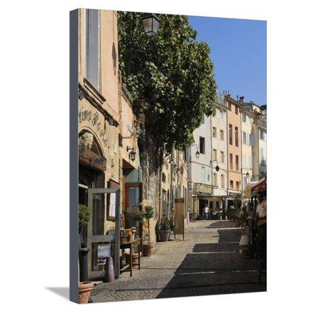 Al Fresco Restaurants, Place Forum Des Cardeurs, Aix-En-Provence, Bouches-Du-Rhone, Provence, Franc Stretched Canvas Print Wall Art By Peter Richardson ()