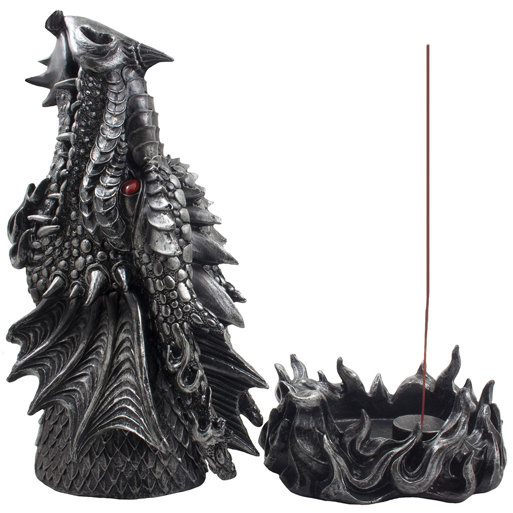 Fire Breathing Dragon Incense Burner Holder Statue