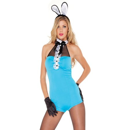 655132b1a134 Forplay - Playboy Playmate Romper Sexy Bunny Suit Womens Halloween Lingerie  Costume Xs/S - Walmart.com
