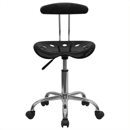 Scranton & Co Computer Task Office Chair in Black and Chrome - image 4 de 4