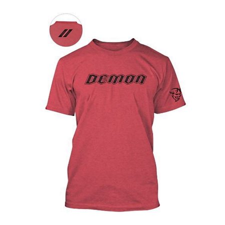 Dodge Demon Tri-Blend T-Shirt Double Extra Large (XXL), Red, Official Authentic Dodge FCA