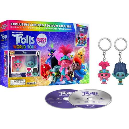 Trolls 2: World Tour (Walmart Exclusive with FUNKO Pop Keychains) (Blu-ray)