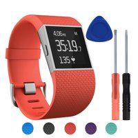 TSV Surge Soft Silicone Replacement Watch Band Strap with Tool Kit for Fitbit Surge Wristband