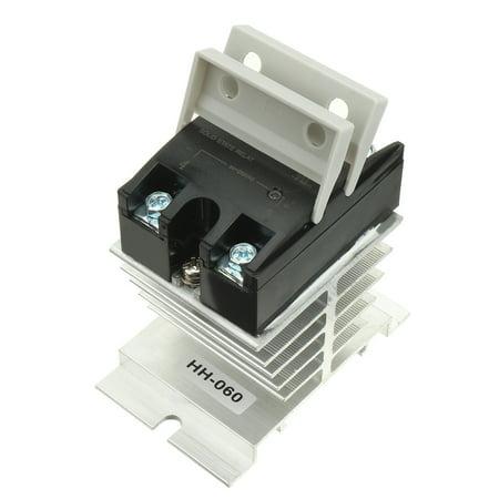 10A AC à AC 90-250V à 24-440V Composé thermique Relais semi + dissipateur chaleur - image 2 de 5