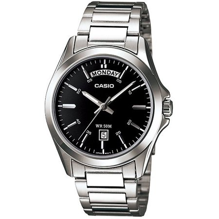 Men's Classic Day and Date Steel Watch MTP1370D-1A1