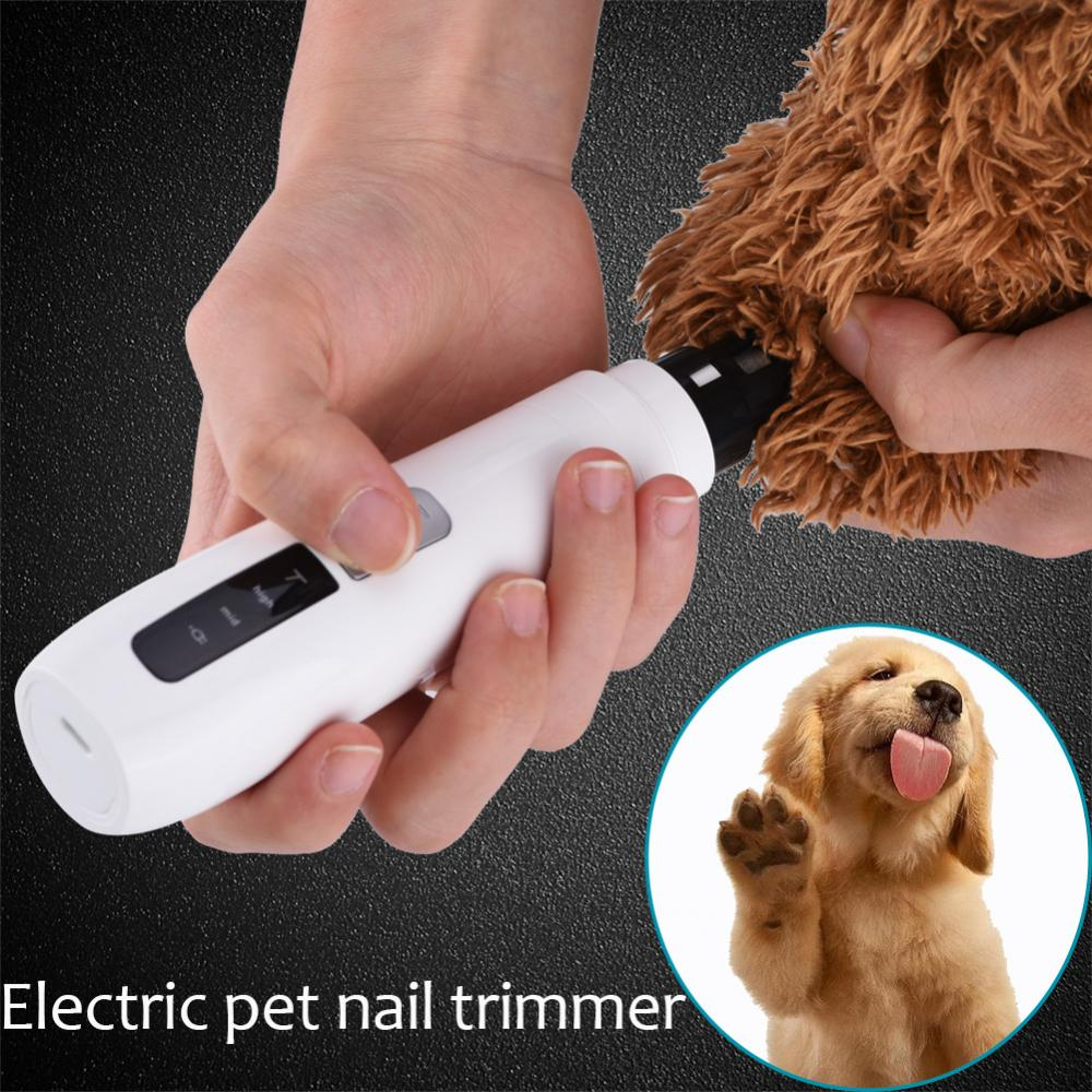 Tbest Pet Nail Trimmer, Pet Toe Clippers,Electric Pet Dog Cat Toe Claw  Nail Grooming Trimmer Tool Grinder Clipper