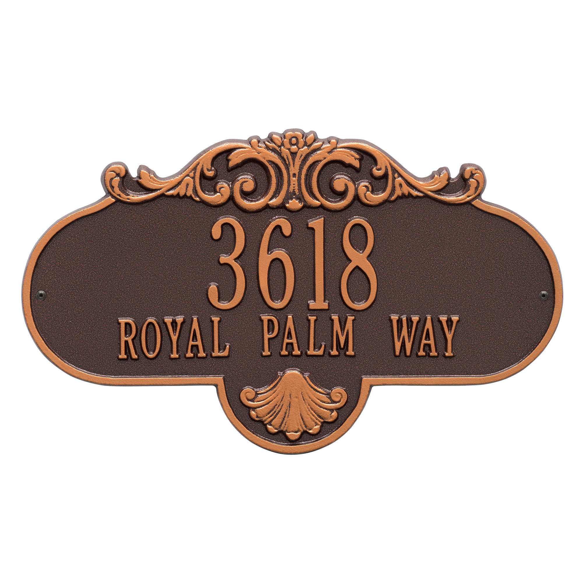 Personalized Rochelle Grande 2-Line Wall Plaque in Bronze/Gold