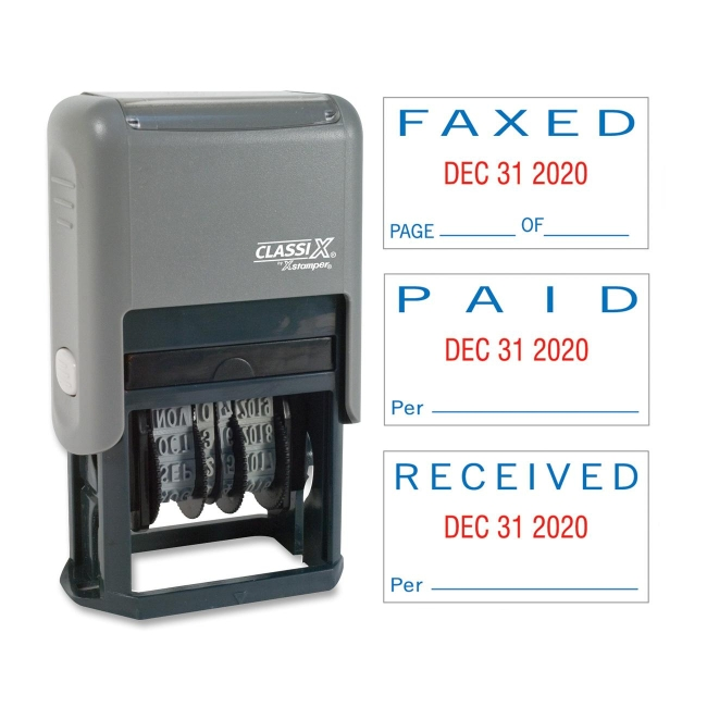 Xstamper Self-Inking Paid/Faxed/Received Dater -XST40330